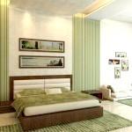 Спальня з салатовим драпіровками
