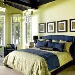 Спальня в салатовому кольорі
