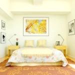 Кремовий інтер'єр спальні