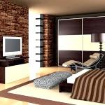 Ультрасучасний дизайн коричневої спальні
