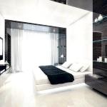 Спальня в стилі хай-тек в чорно-білому кольорі