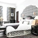 Східна чорно-біла спальня