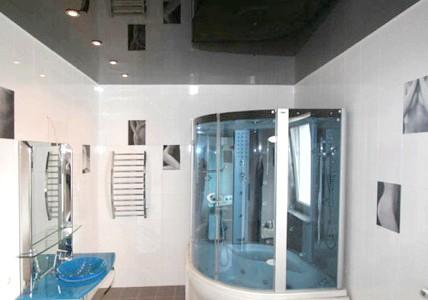 Фото - Обробка стелі у ванній кімнаті и туалеті