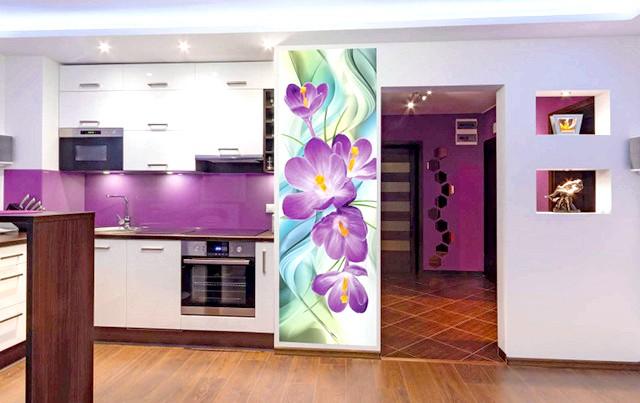 Фото галерея інтер'єрів кухонь з фотошпалерами