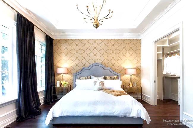 Фото - Сучасний дизайн стелі в спальній кімнаті